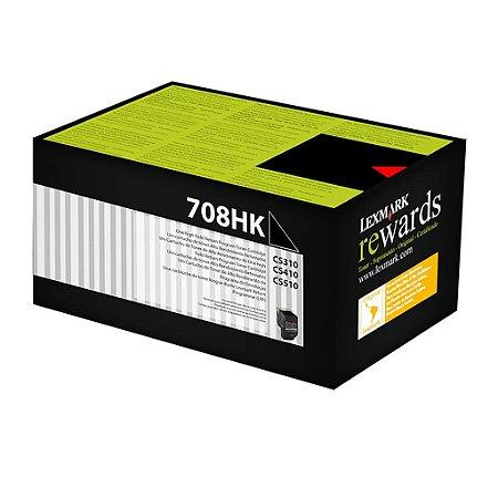 Toner Lexmark CS310n | CX510dhe | 70C8HK0 Preto Original