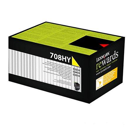 Toner Lexmark CS410dtn   CS510de   70C8HY0 Amarelo Original