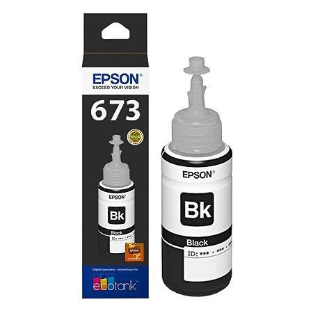 Tinta Epson L800   T673120 EcoTank Preta Original 70ml