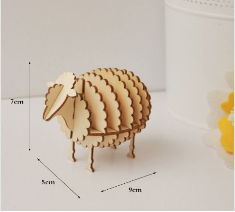 quebra cabeça 3D em madeira
