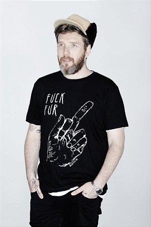 camiseta fuck fur contra o uso de pele animal