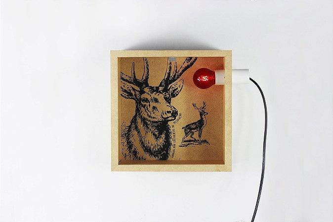 luminária cervo