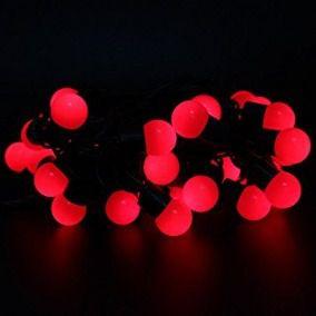 varal de luz pink com fio preto 5 metros