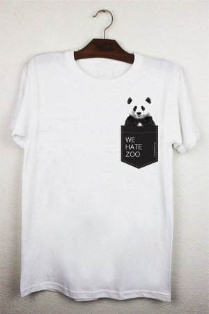camiseta panda pocket