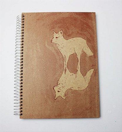caderno em madeira