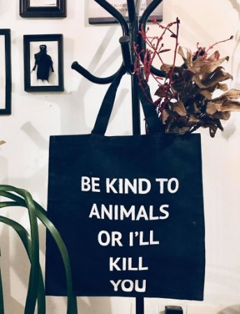 ecobag sarja resinada marinho be kind to animals