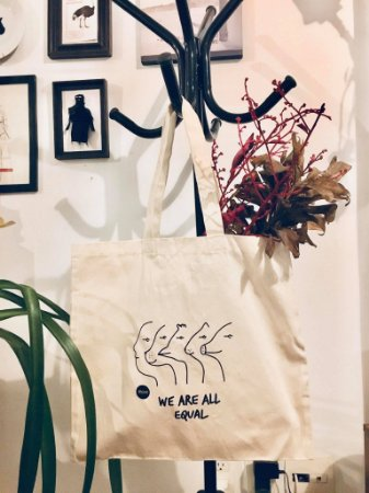 ecobag algodão cru we are all equal