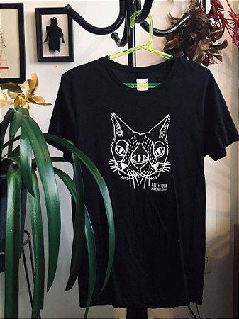 camiseta adote gato espelhado