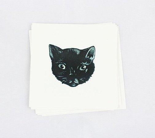 tatuagem temporária gato preto