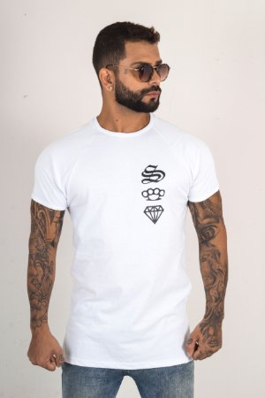 T-SHIRT LONG DIAMOND BRANCA