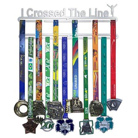 Porta Medalhas Corrida Feminino - I Crossed The Line
