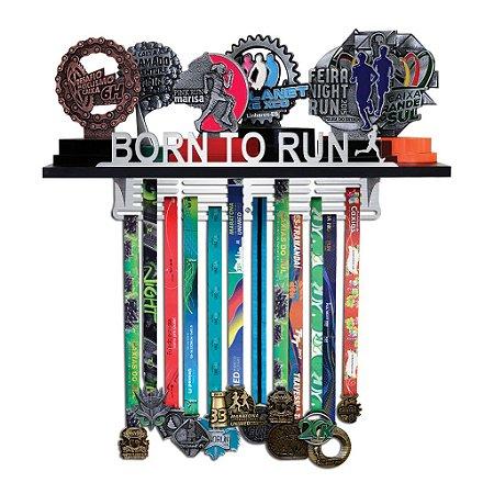 Porta Troféus e Medalhas Corrida Masculino - Born To Run