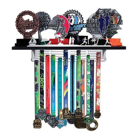 Porta Troféus e Medalhas Corrida - Corrida na Praia