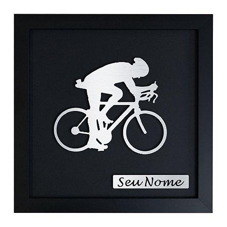 Quadro Decorativo de Ciclismo Masculino Personalizado