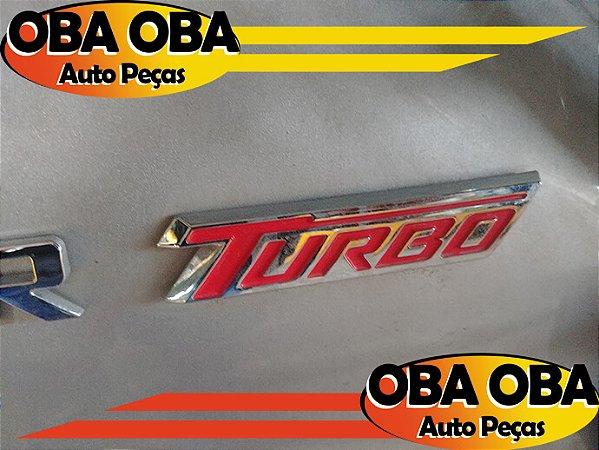 Emblema da Tampa Traseira Turbo Chevrolet Tracker 1.4 Ltz Turbo 2016/2017