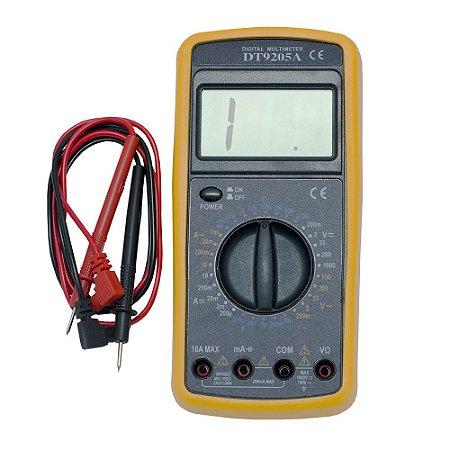 Multímetro Digital Capacímetro Sonoro DT-9205A