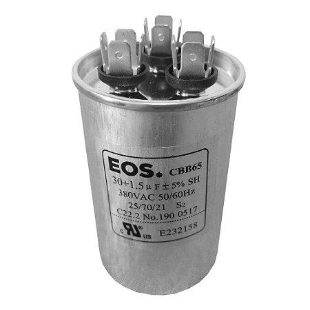 Capacitor 30+1.5MFD 380VAC EOS