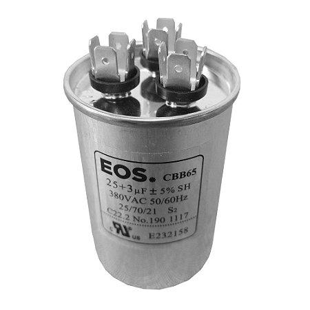 Capacitor 25+3MFD 380VAC EOS