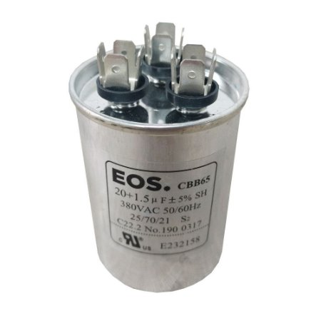 Capacitor 20+1.5MFD 380VAC EOS