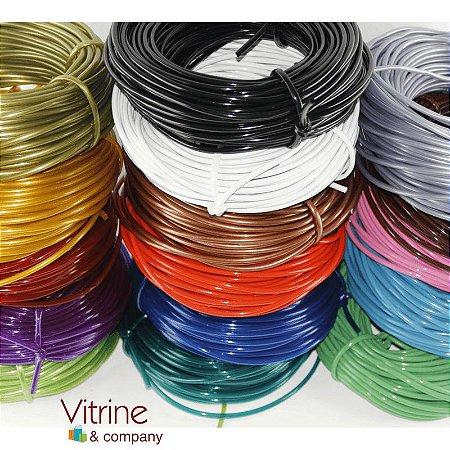 Fio cordão espaguete pvc flexível para enrolar cadeiras e artesanato rolo de 1 kg e 55 metros
