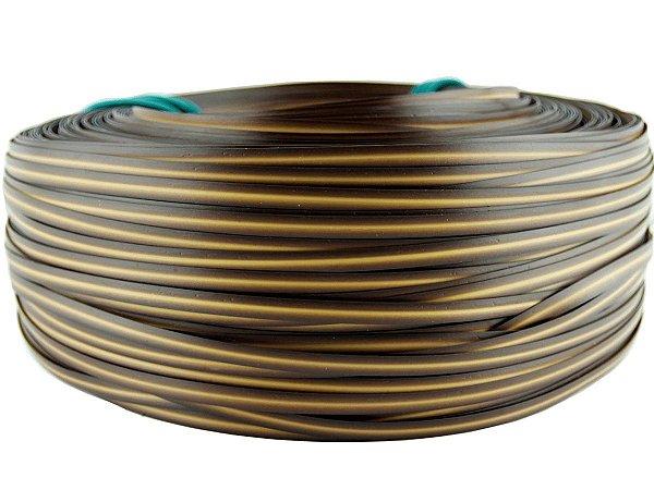 Fita de junco sintético de 10 mm rolo com 500 metros cor Mel