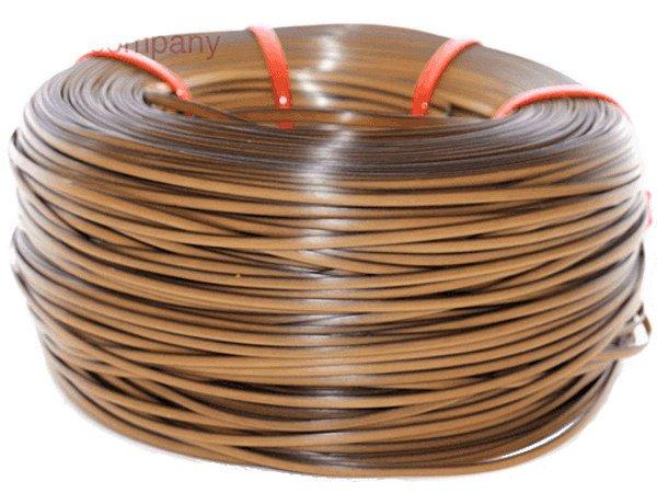 Fita meia cana 5mm de junco Vime  Rattan sintético para cadeiras e artesanato 500 metros Mel