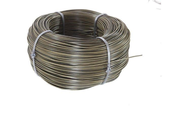 Fio cordão de junco vime rattan sintético de 3mm 500 metros Castanho mesclado