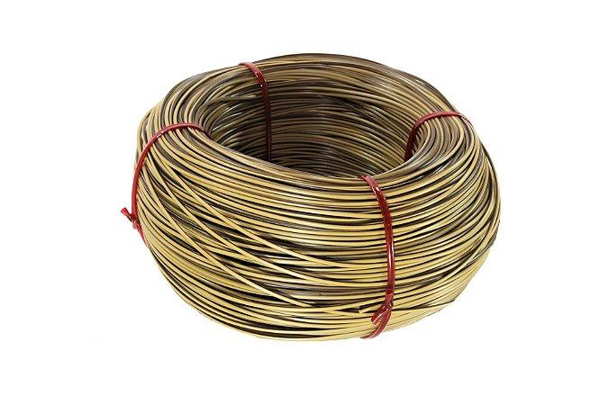 Fio cordão de junco vime rattan sintético de 3mm 500 metros Bege mesclado