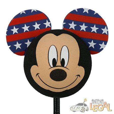 Enfeite de Antena para Carro Mickey Estrelas Estados Unidos Disney