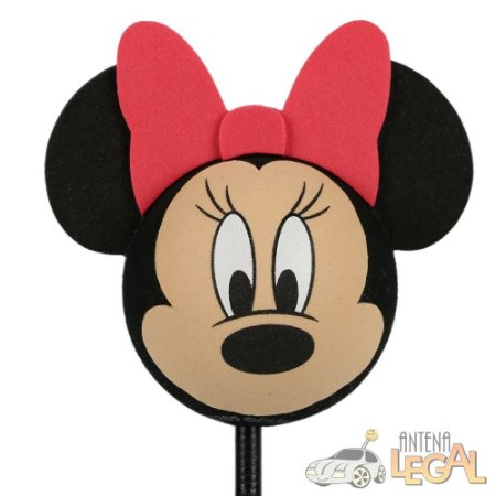 Enfeite de Antena para Carro Rosto Minnie Disney