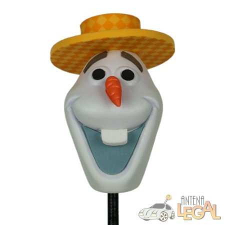Enfeite de Antena para Carro Olaf de Chapéu Frozen Disney