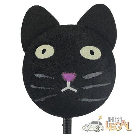 Enfeite de Antena para Carro Gato Preto
