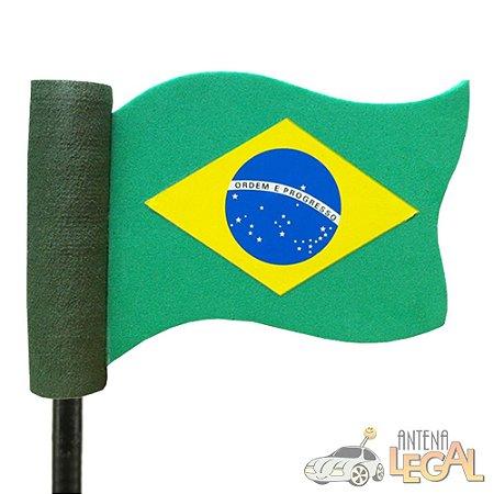 Enfeite de Antena para Carro Bandeira do Brasil