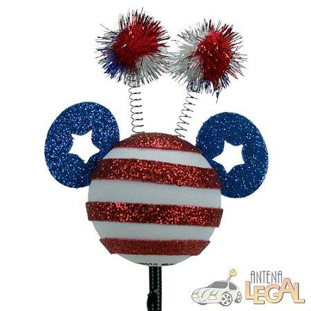 Enfeite de Antena para Carro Mickey América Disney