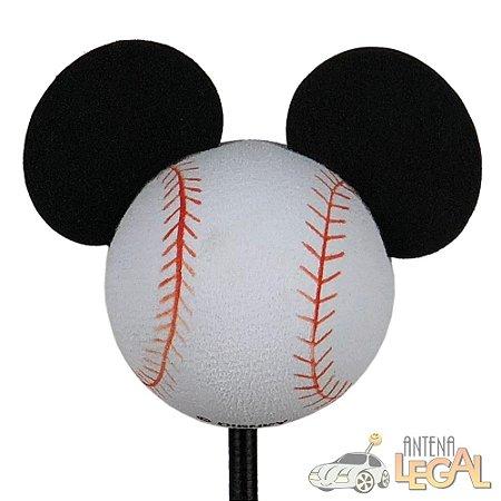 Enfeite de Antena para Carro Mickey Bola de Baseball Disney