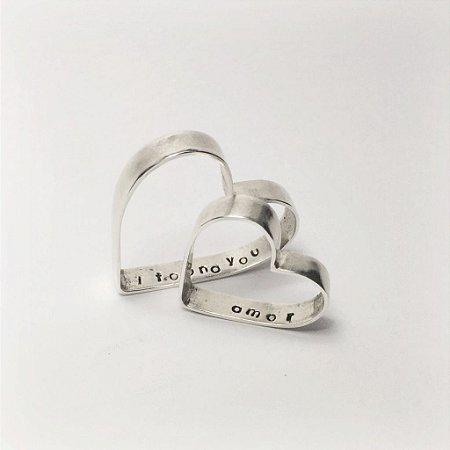 Pingente Coração em Prata