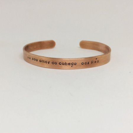 Bracelete P Personalizado Cobre