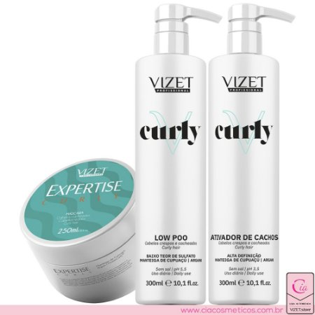 Tratamento Home Care Expertise Curly Expertise Vizet Profissional