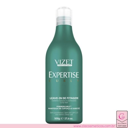 Leave-in de Fitagem Expertise Curly 500ml Vizet Profissional