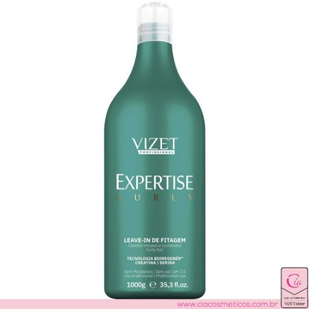 Leave-in de Fitagem Expertise Curly 1000ml Vizet Profissional