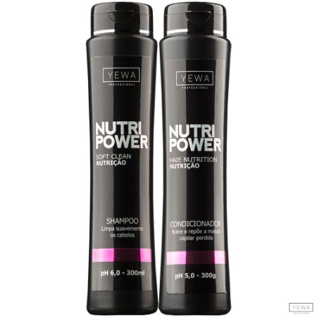 Shampoo + Condicionador Nutri Power 300ml Yewa Professional
