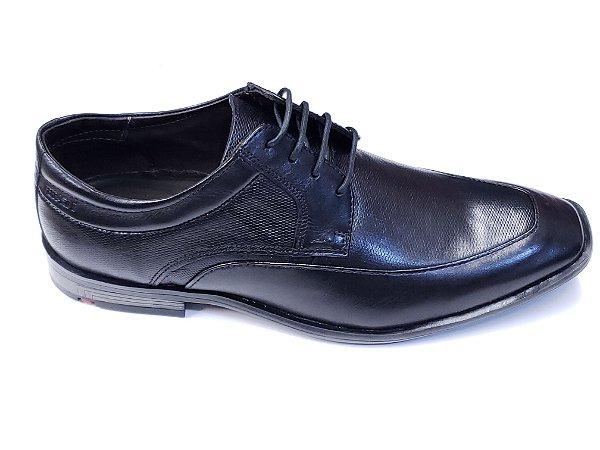 Sapato Social Classico Ferracini Couro Preto Cadarço - 6406-522g