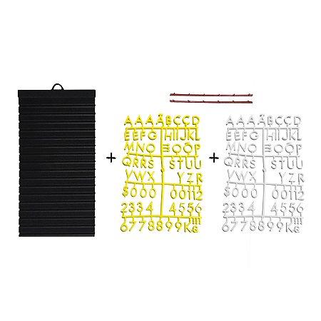 Kit - Quadrinho com 02 cartelas de letras (01 BRANCA e 01 AMARELA)