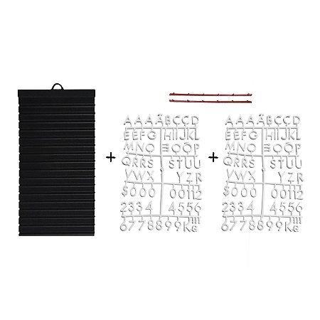 Kit - Quadrinho com 02 cartelas de letras BRANCAS
