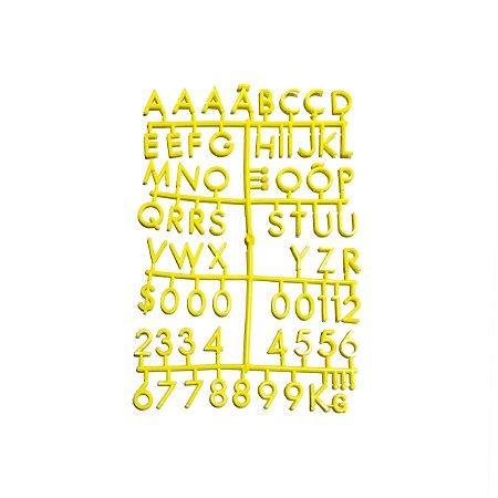 Cartela Extra de Letras - Cor Amarela