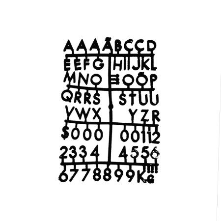 Cartela Extra de Letras - Cor Preta