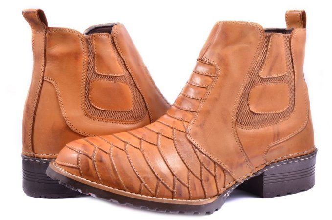 add4b573d8fa7d Botina Bota Masculina Country Couro Legitimo Texana Escamada