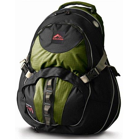 Mochila Crampon 31 Verde com Preto - Trilhas & Rumos