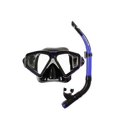 Kit New Parma PVC Azul/Preto - Cetus