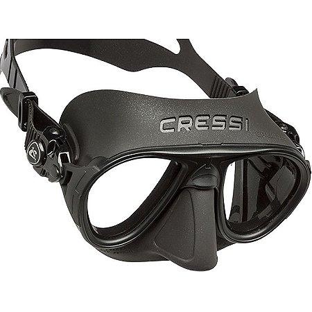 Máscara de Mergulho Silicone Calibro Preta - Cressi